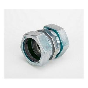 "Bridgeport Fittings 263-RT Compression Coupling, Size: 1-1/4"", Raintight, Material: Zinc"