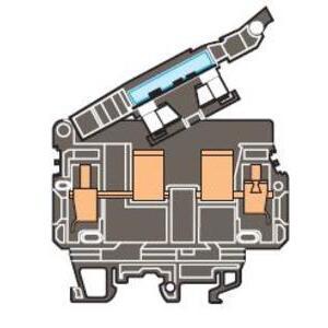 Entrelec 019916626 Terminal Block, Fuse Holder, 13mm, Type: ML 10/13.SFD, Black