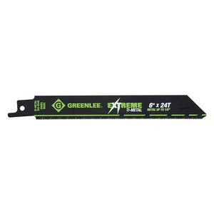 Greenlee 353-624 Reciprocating Saw Blade, Sawzall, 24 TPI, Length: 6""