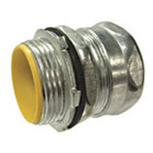 Hubbell-Raco 2915RT EMT Compression Connector, Raintight, 1 1/4 inch, Insulated.