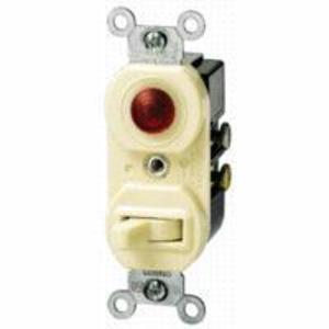 Leviton 5226-I Combination Switch / Neon Pilot Light, 15A, Ivory