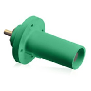 Leviton 17R21-G Male, Panel Receptacle, 90 Deg., 250-750 MCM,  Threaded Stud, Cam-Type, Green