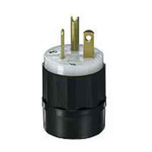 Leviton 5466-C 20 Amp Plug, 250V, 6-20P, Nylon, Black/White, Industrial Grade