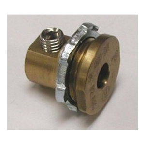 "Bridgeport Fittings MC-050 Enclosure Grounding/Bonding Connector, Size: 1/2"", Material: Brass"