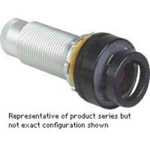 Hubbell-Killark GOB3-R23C-N34-LED G Series - Aluminum Long 110V LED Pilot Light Operator - Red Lens With Blank Nameplate