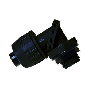 "Hubbell-Raco 4752 1/2"" Liquidtight 90° Connector - Black - Swivel."