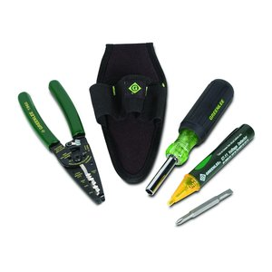 Greenlee 0159-22R 4-Piece Electrician's Tool Kit