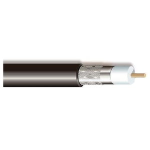 Multiple RG6UCM60BLK1000RL Coax Cable,  Non-Plenum, RG6U, 18 AWG, Copper, Black, 1000'