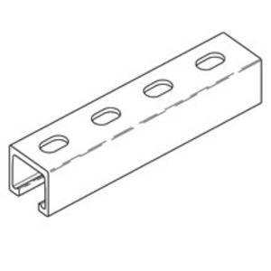 "Cooper B-Line BFP22SH-240 Channel - Elongated Holes, Fiberglass, 1-5/8"" x 1-5/8"" x 20'"