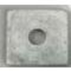 "M & W Electric SW58 Square Washer, 5/8"", Hot Dipped Galvanized"