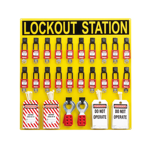 Panduit PSL-20SWCA Lockout Station With Components, 20 Pers