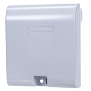 "Intermatic WP1030MXD Weatherproof-In-Use Cover, 2-Gang, Depth: 3-1/8"", Vertical, Metallic"
