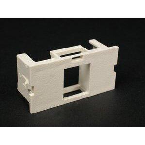 Wiremold CM2-U1KEYA-GY Single Unloaded Keystone Module, Non-Metallic, Gray