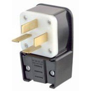 Leviton 8352-P 50 Amp Angle Plug, 120/208V 3PH, 18-50P, Non-Grounding