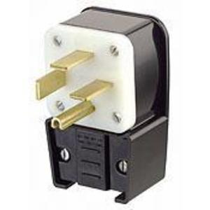 Leviton 8462-P 60 Amp Angle Plug, 250V 3PH, 15-60P, 3P4W, Grounding