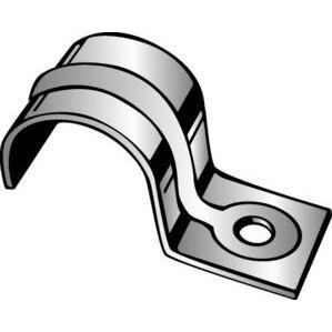"Minerallac 102 Pipe Strap, 1-Hole, Size: 1/8"", Steel/Galvanized"