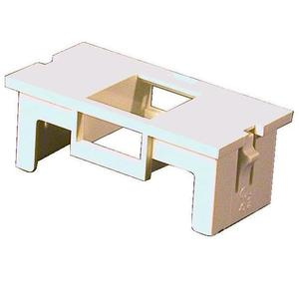 Wiremold CM2-U1KEYA Single Unloaded Keystone Module, Non-Metallic, Ivory