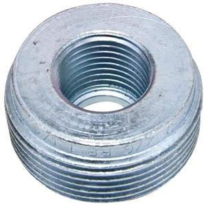 "Cooper Crouse-Hinds RE108 Reducing Bushing, 4"" x 3"", Threaded, Iron Alloy"