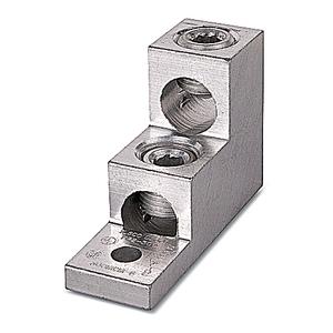 Thomas & Betts ASL30-21 Mechanical Lug, 2-Conductor, 1-Hole Mount, Aluminum, 6 AWG - 300 MCM