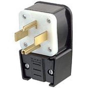 Leviton 9432-P 30 Amp Angle Plug,125/250V, 14-30P, Grounding