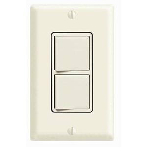 Leviton 5641-T 15A, 120V Decora Comb. Rocker (1) Switch, 3-Way Light Almond