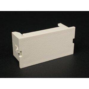 Wiremold CM2-BL-BK 2A Blank Module, CM  Series, Non-Metallic, Black
