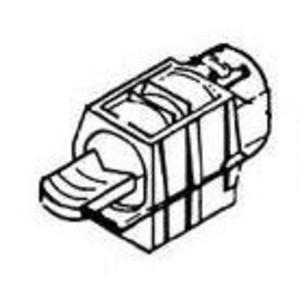 "Thomas & Betts 3201-TB NM Cable Connector, 1/2"", Type: Snap, Zinc Die Cast"