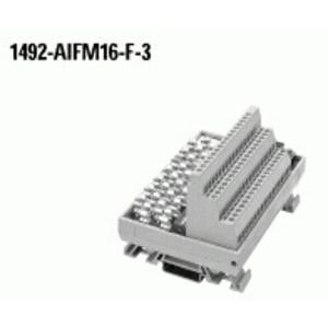 Allen-Bradley 1492-AIFM16-F-3 Wiring Module, Fusible, 3 Terminals per 16 Channel, Blown Fuse Ind.