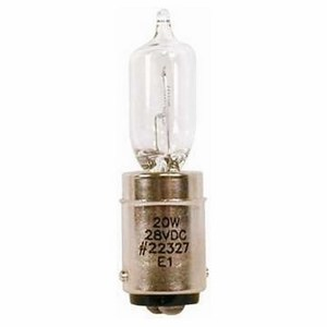 Edwards 50LMP-20WH Lamp, Replacement, Halogen, 24VAC, For use with 50 Series Beacons.