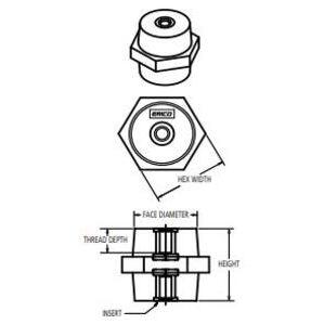 Erico Eriflex 559680 Stand-off Insulator