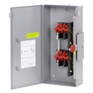 Eaton DT225NRKLC Safety Switch, Double Throw, Heavy Duty, 400A, 240VAC, NEMA 3R