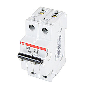 ABB S202-D10 Circuit Breaker, Miniature, DIN Rail Mount, 10A, 2P, 480Y/277VAC