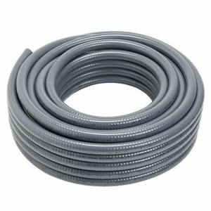 "Carlon 15007-100 Liquidtight Flexible Conduit, Non-Metallic, 3/4"", Gray, 100' Coil"
