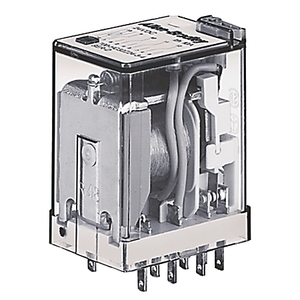 Allen-Bradley 700-HC24A1-3-4 Miniature Ice Cube Relay, 14-Blade, 4PDT, 7A, 120VAC, Push to Test