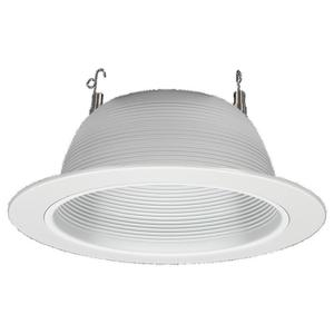 Sea Gull 1126-14 Incandescent Recessed Trim/Baffle, 7-3/8'' Diameter, White