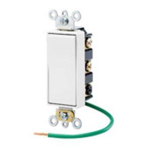 Leviton 5686-2W Decora Switch, 15A, 120/277V, Maintained, 2-Pole, Double Throw, White