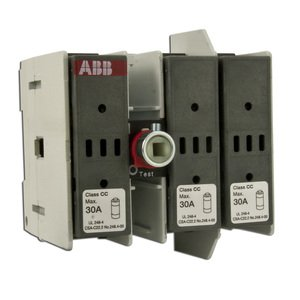 ABB OS30FACC12 Fused Disconnect, 30 Amp, 3-Pole