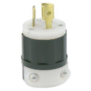 Leviton 4720-C Locking Plug, 15A, 125V, 2P3W