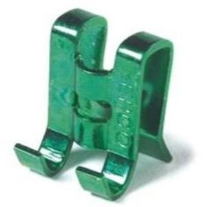Bizline RGC Grounding Clip, Green, Steel, For 10 to 14 AWG