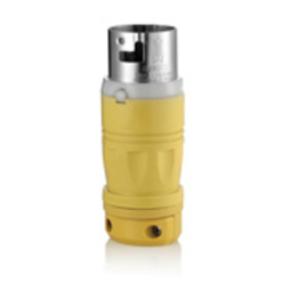 Leviton 6365CR Locking Plug, Non-NEMA, 50A, 125V, 3P4W