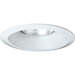 "Progress Lighting P8075-28 Baffle Trim, IC/Non-IC, 6"", White"