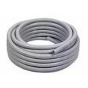 "Electri-Flex 80154 Liquidtight Flexible Steel Conduit, Type EF, 1-1/2"", Gray, 150'"
