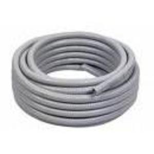"Electri-Flex 80152 Liquidtight Flexible Steel Conduit, Type EF, 1-1/2"", Gray, 50'"