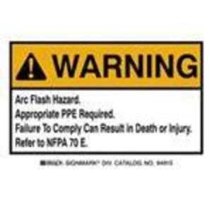 Brady EL-1 Arc Flash Hazard Label