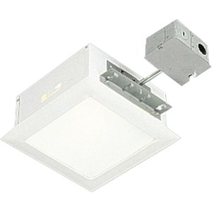 "Progress Lighting P6414-30TG Square Housing and Trim, Non-IC, 9-1/2"", White Trim, 100W"