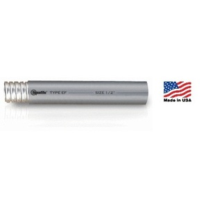 "Electri-Flex 80137 Liquidtight Flexible Steel Conduit, Type EF, 1"", Gray, 400'"