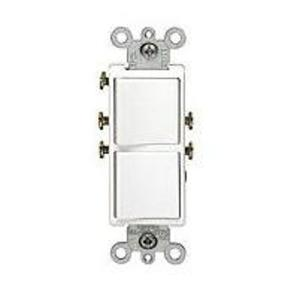 Leviton 5634-W 15A, 120V, Comb. Decora Rocker (2) Switch, White