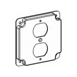 """Orbit Industries 4402 4"""" Square Cover, Raised 1/2"""", Type: Duplex, Steel/Galvanized"""