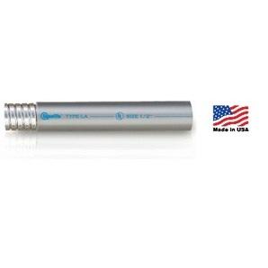 "Electri-Flex 20101 Liquidtight Flexible Steel Conduit, Type LA, 3/8"", Gray, 100'"