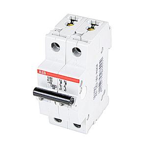 ABB S202-C20 Circuit Breaker, Miniature, DIN Rail Mount, 20A, 2P, 480Y/277VAC